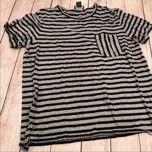 Club Monaco Striped Pocket Tee